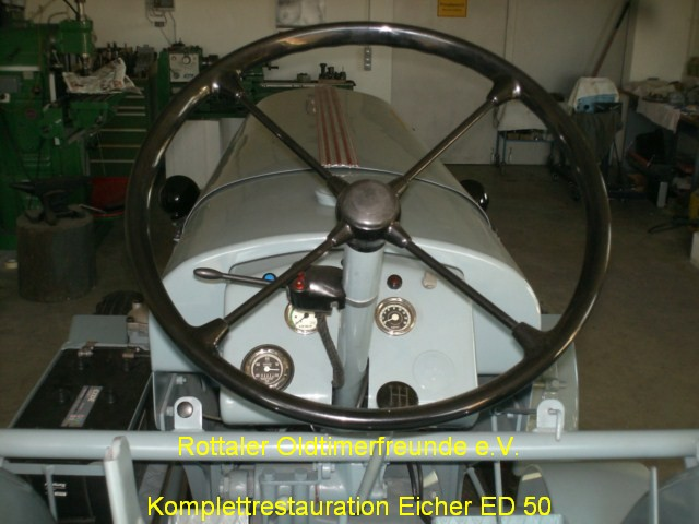 Restauration Eicher ED 50